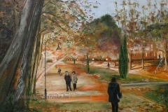 Esti séta a hévízi Schulhof Ö. parkban 1999. 35×50cm, olaf, farost