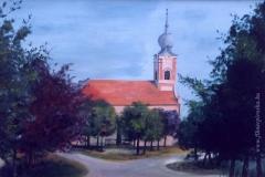 A nagyigmándi Református Templom 1998. 43×63cm, olaj, farost