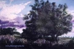 Alkony a kaszálón1998. 22×35cm, olaj, farost