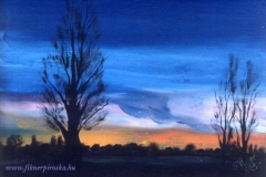 Kék alkony2 1998. 15x20cm_ olaj, farost