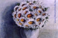 Margarétás csendélet 1998. 40×40cm, olaj, farost