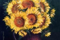 Napraforgós csendélet 1998. 50×04cm, olaj, farost