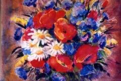 Vadvirágos csendélet 1999. 21×30cm, akvarell