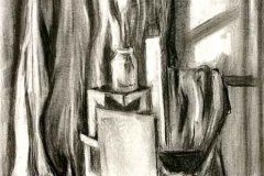 Csendélet 1999. 60×40cm, szén