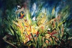 A fűben 2000. 25×30cm, akvarell