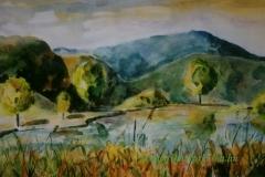 A szálkai tónál 2000. 23×38cm akvarell