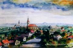 Látkép Nagyigmándról 2000. 30×40cm, akvarell