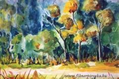 Szálkai fák 2000. 25×30cm, akvarell
