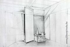 Kúp és perspektíva 2000. 42×58cm, ceruza