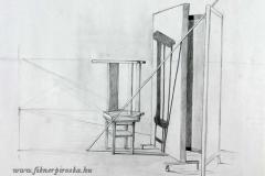 Léc és árnyék 2000. 42×58cm, ceruza
