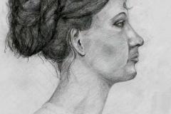 Portré 2000. 42×29cm, ceruza