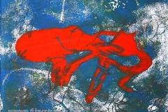 Az enyészet markában II. 2000. 19,5×14cm, monotípia
