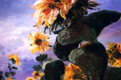 Büszke napraforgó 2000. 40×50cm, olaj, farost
