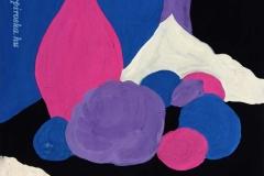 Kék-lila 2000. 20×20cm, tempera