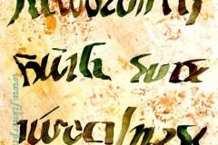 Plakát 2001. 29×42cm, tempera