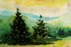 A hargitán 2001. 20×30 akvarell