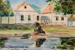 A torockói mosógépnél 2001. 21×29cm, akvarell