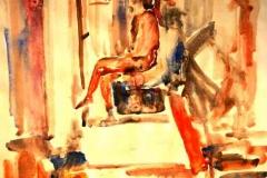 Akt vázlat 2001. 42×29cm, akvarell