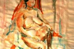 Akt-vázlat 2001. 42×60cm akvarell