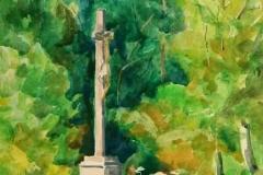 Szálkai kálvária 2001. 22×30cm, akvarell