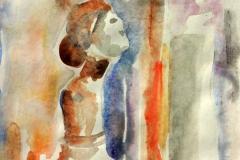 Tanulmámyfej 2001. 20×18cm, akvarell