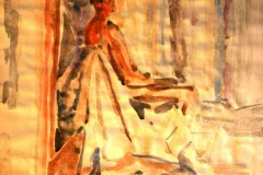 Vizsgamunka 2002. 40×60cm, akvarell