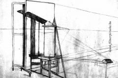 Árnyékok 1. 2001. 29×42cm, ceruza
