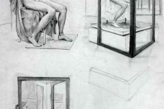Aktok és keretek 2001. 29×42cm, ceruza