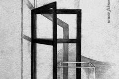 Kocka és keret 2000. 42×21cm,