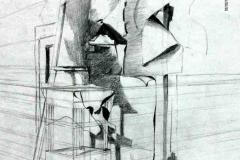 Kompozíció 2001. 40×60cm, ceruza