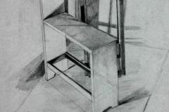 Sámlis csendélet 2001. 40×60cm, ceruza