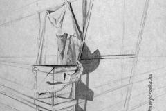Tanulmány 2001. 40×60cm, ceruza