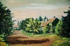 A Mansbart utcában 2001. 40×50 cm olaj, vászon