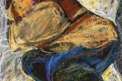 Alvó 2001.23×18cm, pasztell