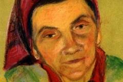 Anyám 2001. 22×16cm, pasztell