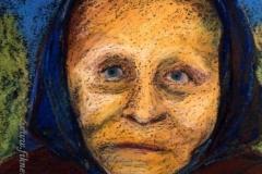 Bukta Boldizsárné portréja 2001. 22×18cm, pasztell