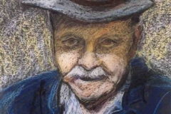 Csák Boldizsár portréja 2001-P-10, 29×21cm, pasztell