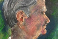Géczi Imre poréja 2001-P-12, 22×16cm, pasztell