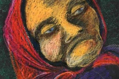 Mély álomba merülve 2001.22×16cm, pasztell
