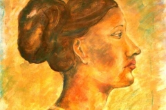 Portré 2001 58×42cm akvarel-pasztell