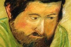 Portré Csóri Mikilósról 2001. 22×16cm,pasztell