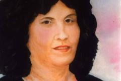 In memoriam P.Varjú Gyöngyi 2002. 40×50cm, olaj, farost