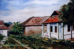 Nénike háza Rimócon 2002. 30×40cm, olaj, farost
