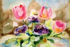 Csendélet 2004.16,5×16,5cm, akvarell