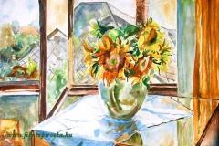 Ablakos csendélet 2005. 30×40cm, akvarell