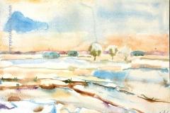 Tél 2005. 21×27cm, akvarell