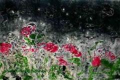 Virágos mező 2007, 18×24cm, monotípia