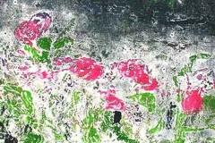 Virágos mező II. 2007. 17×35cm, monotípia