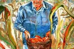 Az utolsó kukoricaszedés 2007. 40×30, olaj, vászon