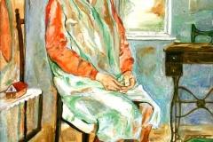 Számvetés- Anyám 2008. 40×30 cm, olaj, vászon